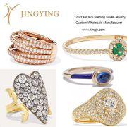 925 sterling silver rings fine jewelry custom OEM factory